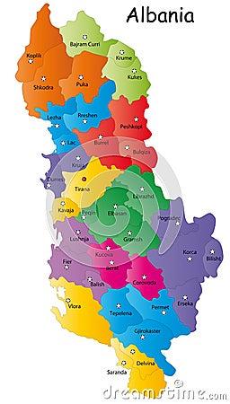Vector Albania map