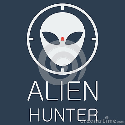 Free Vector Alien Hunter On Blue Background Royalty Free Stock Image - 50901556
