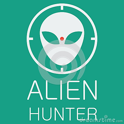 Free Vector Alien Hunter On Green Background Stock Images - 50900854
