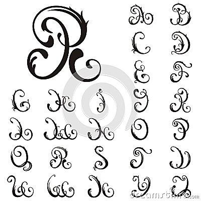 Vector. All Capital Letter For Your Fairytale