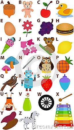Vector Alphabet Set : A to Z