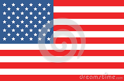 Vector american flag Vector Illustration