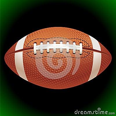 Vector American football ball