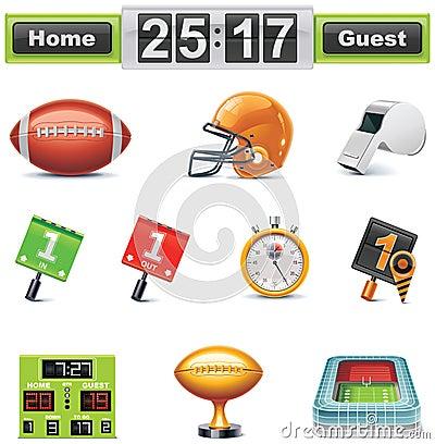 Free Vector American Football / Gridiron Icon Set. Part Stock Photos - 17858233