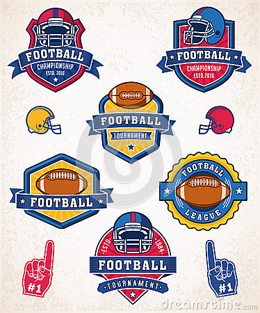 Vector American football logo and insignias Vector Illustration
