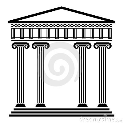 vector ancient greek architecture