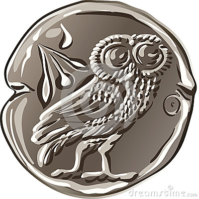 Free Vector Ancient Greek Money Silver Coin Drachma Royalty Free Stock Photography - 42762667