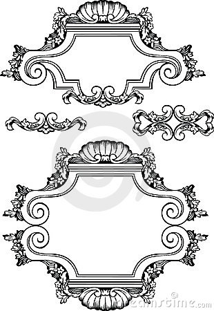 Vector Antique Vintage Frames And Elements.