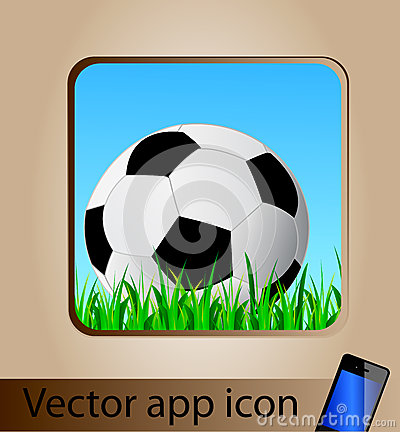 Vector app icon for mobile phone
