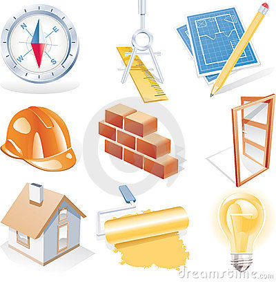 Free Vector Architecture Detailed Icon Set Stock Images - 8611724