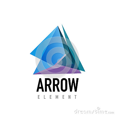 Vector arrow geometric design logo Vector Illustration