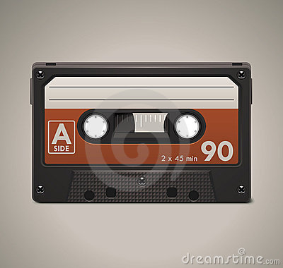 Free Vector Audio Cassette Tape XXL Icon Royalty Free Stock Image - 19257786
