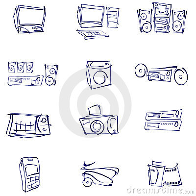 Vector, Audio, video, icons
