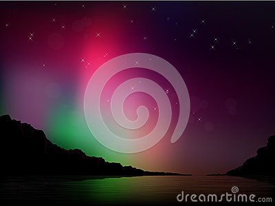 Vector Aurora Borealis