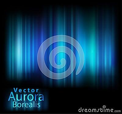 Vector aurora lights background