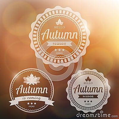 Free Vector Autumn Background Stock Image - 57736901