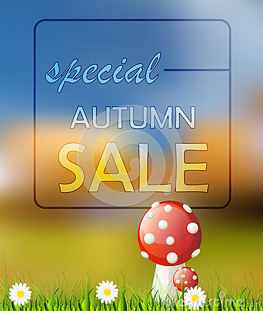 Vector autumn card sale Vector Illustration
