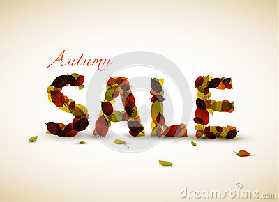 Vector autumn sale poster