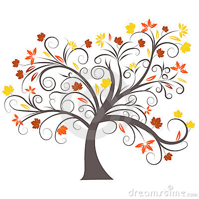 Vector Autumn Tree Design Stock Images