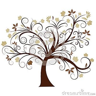 Free Vector Autumn Tree Design Royalty Free Stock Photography - 2871457