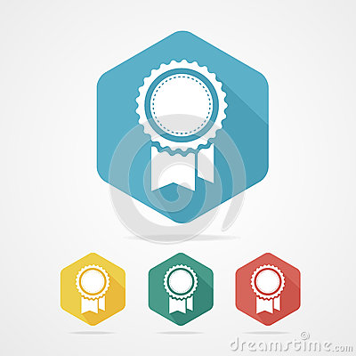 Free Vector Award Icon Flat Style With Long Shadow. Stock Image - 46350991