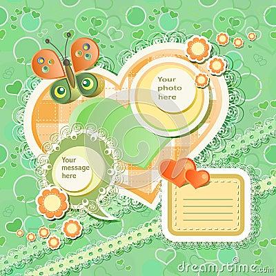 Vector baby card
