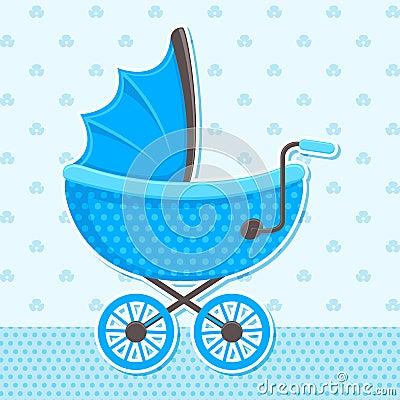 Vector Baby Pram