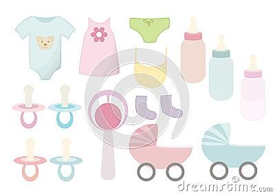Vector baby things