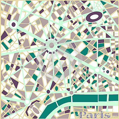 Vector Background Abstract Pattern Paris city map