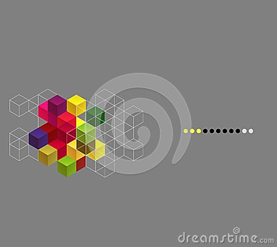 Vector background with color cubes