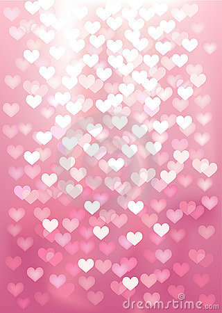 Vector background defocused light in heart shape