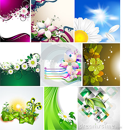Vector background for design with flowers