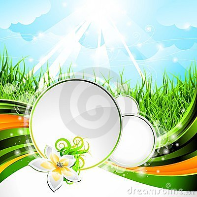 Vector background design on a spring theme
