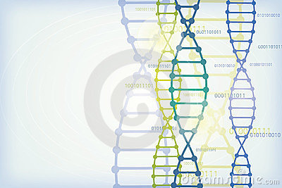 Vector background with DNA