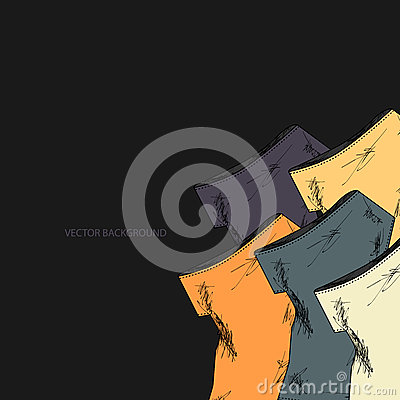 Vector background with dresses