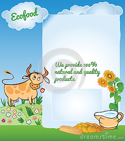 Vector Background for Ecology Food