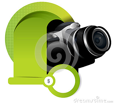 Vector background element with camera