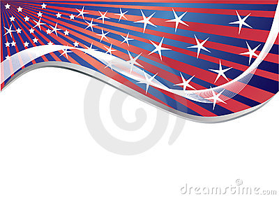 Vector background with few star
