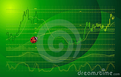 Vector background with forex chart