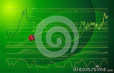 Forex chart vector