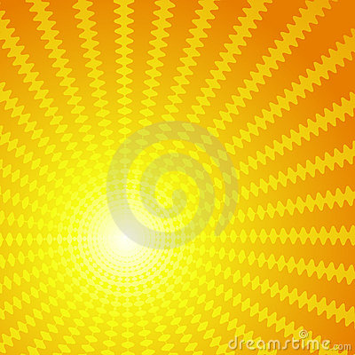 Vector background in the form of the sun