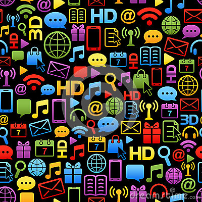 Vector background made from colorful network icons
