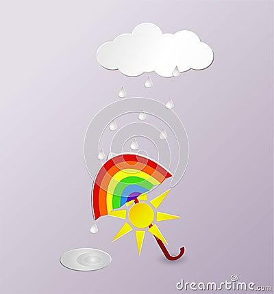 Vector background rainy weather