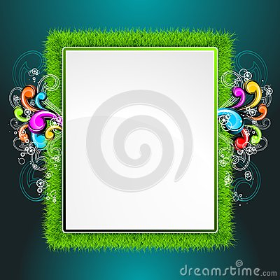 Vector background on a spring theme.