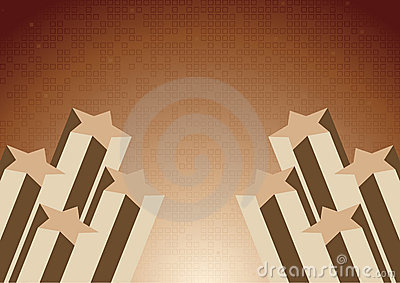 Vector background with star in chocolate color
