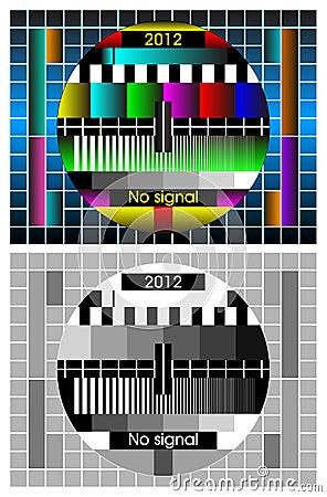 vector background -Test tv screen