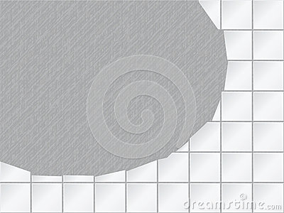 Vector background - tiled wall with a large hole
