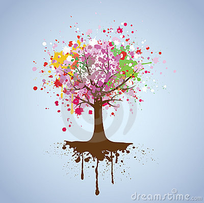 Vector background of tree