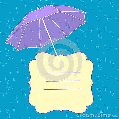 Vector background with umbrella