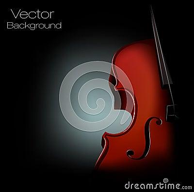 Vector background violin